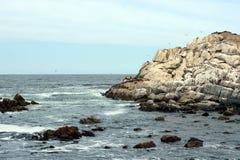 Playa rocosa en Vina del Mar Fotos de archivo libres de regalías