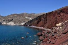 Playa roja Imágenes de archivo libres de regalías