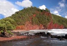 Playa roja de la arena imagen de archivo libre de regalías