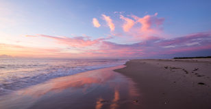 Playa rosada foto de archivo libre de regalías