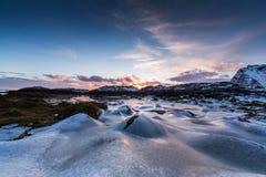 Playa ártica congelada Fotografía de archivo