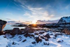 Playa ártica congelada Imagen de archivo libre de regalías