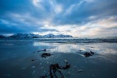 Playa ártica congelada Imagenes de archivo