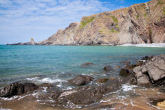 Playa rugosa imagen de archivo