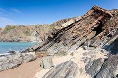 Playa rugosa Fotografía de archivo