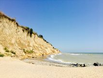 Playa salvaje Fotos de archivo libres de regalías
