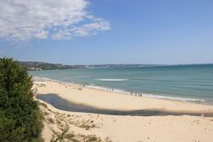 Playa salvaje Fotografía de archivo libre de regalías