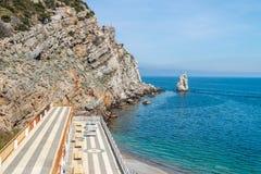 Playa salvaje asombrosa de la roca Imagen de archivo