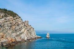 Playa salvaje asombrosa de la roca Fotografía de archivo libre de regalías