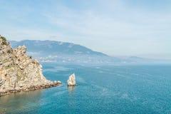 Playa salvaje asombrosa de la roca Imágenes de archivo libres de regalías