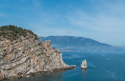 Playa salvaje asombrosa de la roca Imagenes de archivo