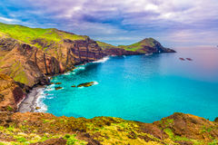 Playa salvaje en Ponta de Sao Lourenco, Madeira, Portugal Imagenes de archivo