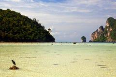 Playa salvaje en Tailandia Fotos de archivo libres de regalías