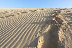 Playa salvaje y duna de arena asombrosa en el La Guajira, Colombia Imagen de archivo