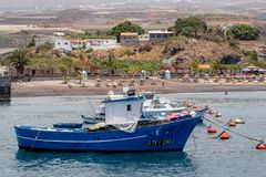 Playa San Juan Tenerife Fishing fartyg Arkivbilder