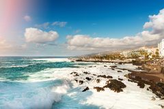 Playa San Telmo in Puerto de la Cruz. Tenerife Stock Photo