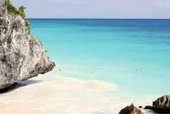 Playa secreta Foto de archivo libre de regalías