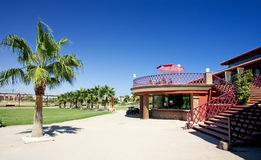 Playa Serena golf clubhouse on the Costa del Almeria. Playa Serena golf clubhouse near Roquetas on the Costa del Almeria in Spain on a bright sunny day Stock Photos