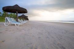 Playa sin fin del Brasil Fotos de archivo libres de regalías