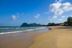 Playa sola de la duna de arena Fotos de archivo libres de regalías