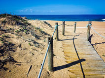 Playa sola, Portugal Imagen de archivo