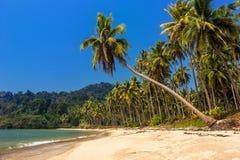 Playa sola tranquila hermosa de una laguna hermosa Fotografía de archivo libre de regalías