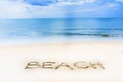 Playa soleada Fotografía de archivo libre de regalías