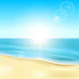 Playa soleada libre illustration