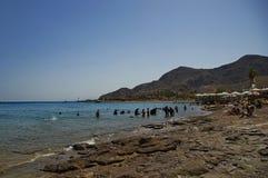 Playa soleada Imágenes de archivo libres de regalías