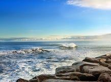 Playa soleada Imagenes de archivo
