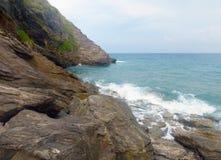 Playa soleada Foto de archivo libre de regalías