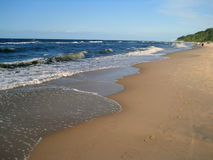 Playa soleada del mar Fotos de archivo