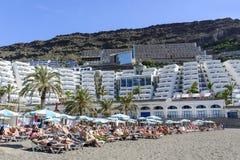 Playa soleada en Taurito Fotografía de archivo libre de regalías