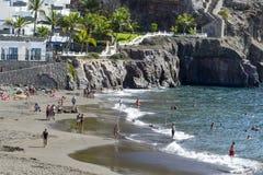 Playa soleada en Taurito Foto de archivo