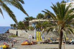 Playa soleada en Taurito Fotos de archivo libres de regalías