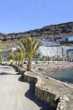 Playa soleada en Taurito Imagen de archivo libre de regalías