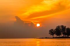 Playa Songkhla Tailandia de la salida del sol, Fotos de archivo