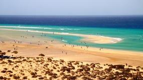 Playa Sotavento - самый лучший виндсерфинг и kitesurfing пляж в JandÃa, Канарских островах, Испании стоковые фотографии rf
