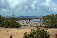 Playa Sucia en la costa oeste de Puerto Rico Imagenes de archivo