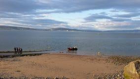 Playa Swansea de los refunfuños Imagen de archivo libre de regalías