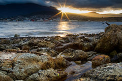 Playa Tasmania de la tarde fotos de archivo