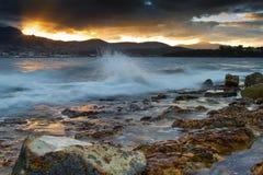 Playa Tasmania de la tarde imágenes de archivo libres de regalías