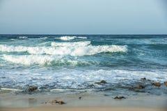 Playa tempestuosa canaria Fotos de archivo libres de regalías