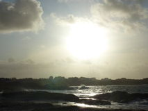 Playa tempestuosa en Noruega Fotografía de archivo libre de regalías