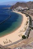 Playa Teresitas, Тенерифе стоковое изображение rf