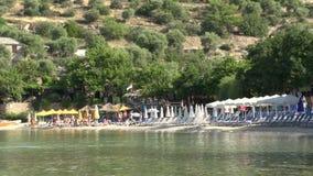 Playa Thassos Grecia de Kemori almacen de metraje de vídeo