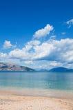 Playa tranquila Foto de archivo libre de regalías