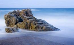 Playa tranquila Fotos de archivo libres de regalías