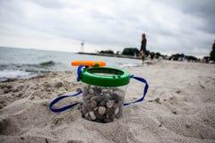 Playa tranquila Imágenes de archivo libres de regalías