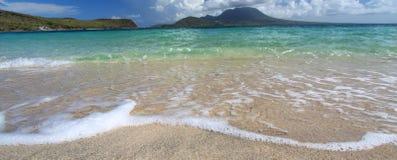 Playa tranquila en el santo San Cristobal Fotografía de archivo